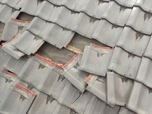 台風で被害を受けやすい瓦🏠