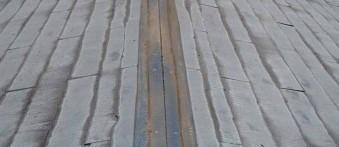 スレート屋根から 金属カバー(ガルテクト)工事