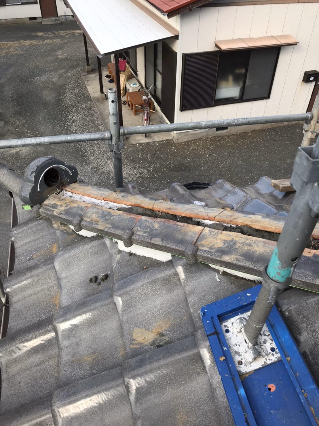 千葉県館山市にて屋根の葺き替え工事と下屋棟取り直し
