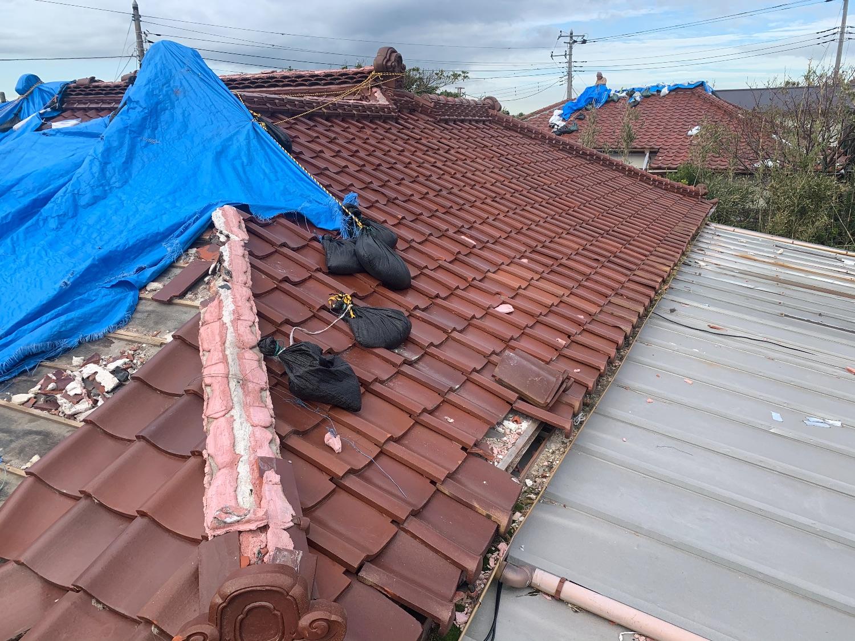 瓦屋根 から スレート屋根 へ葺き替え工事