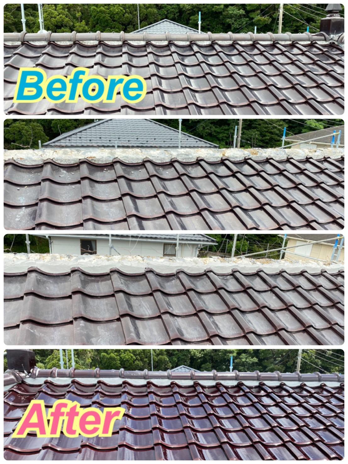 屋根:棟瓦の補修工事🔧✨