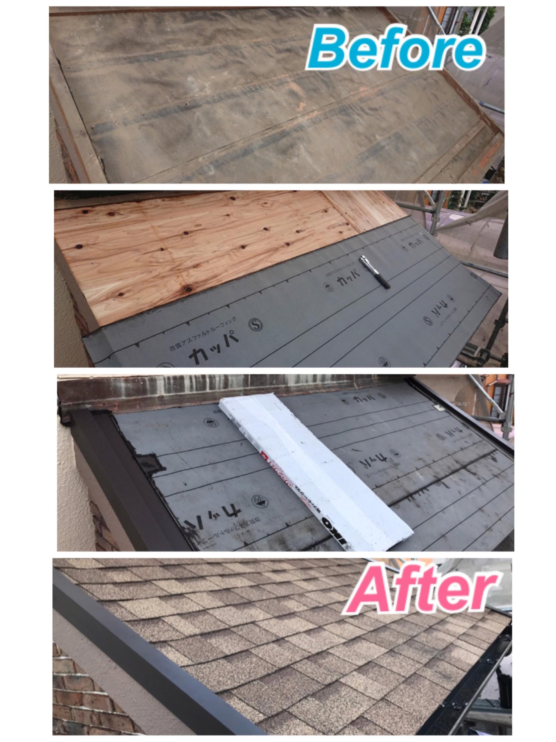 屋根:アスファルトシングル葺き替え工事🏡✨