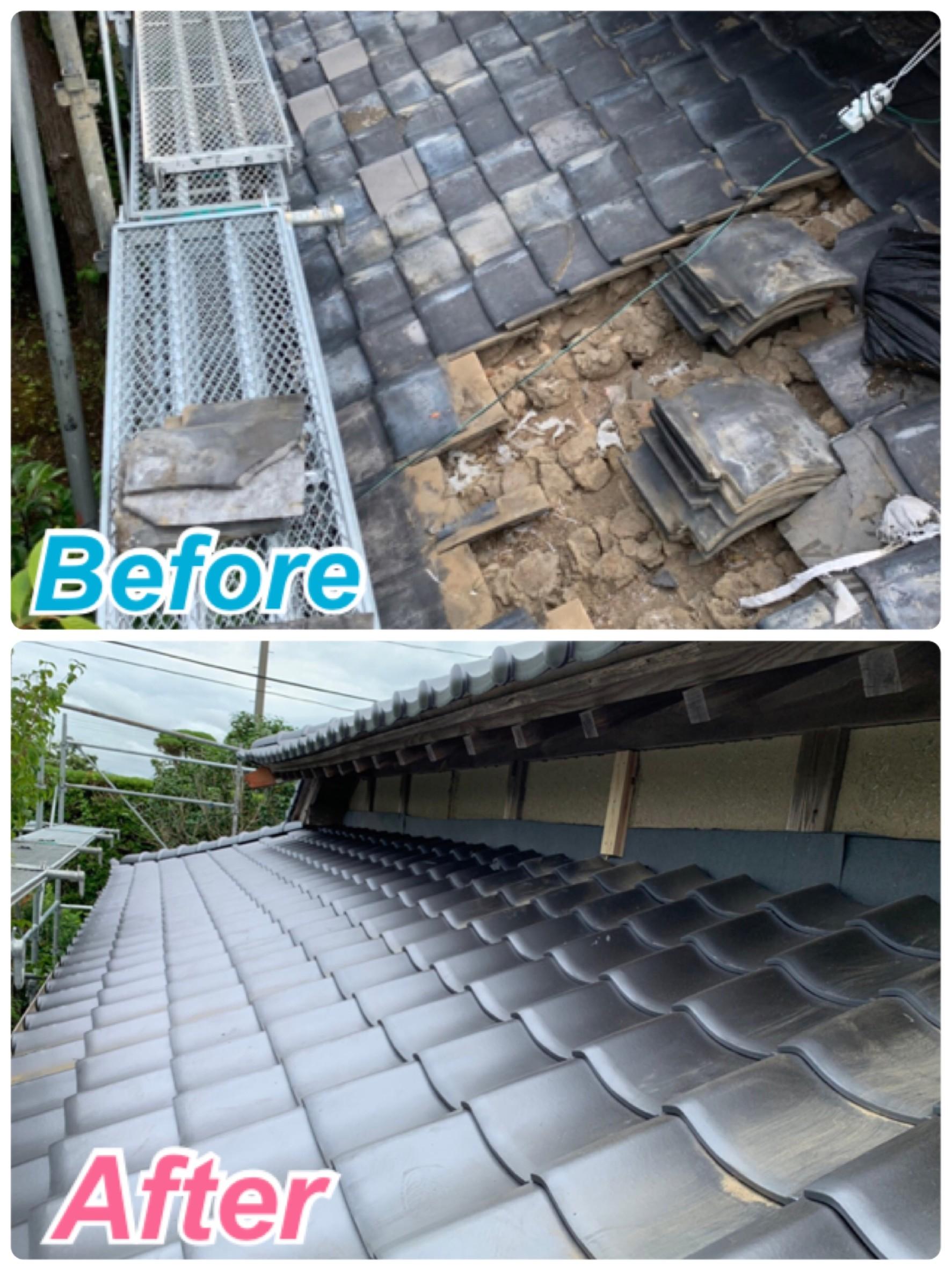 屋根:葺き替え工事🏡✨