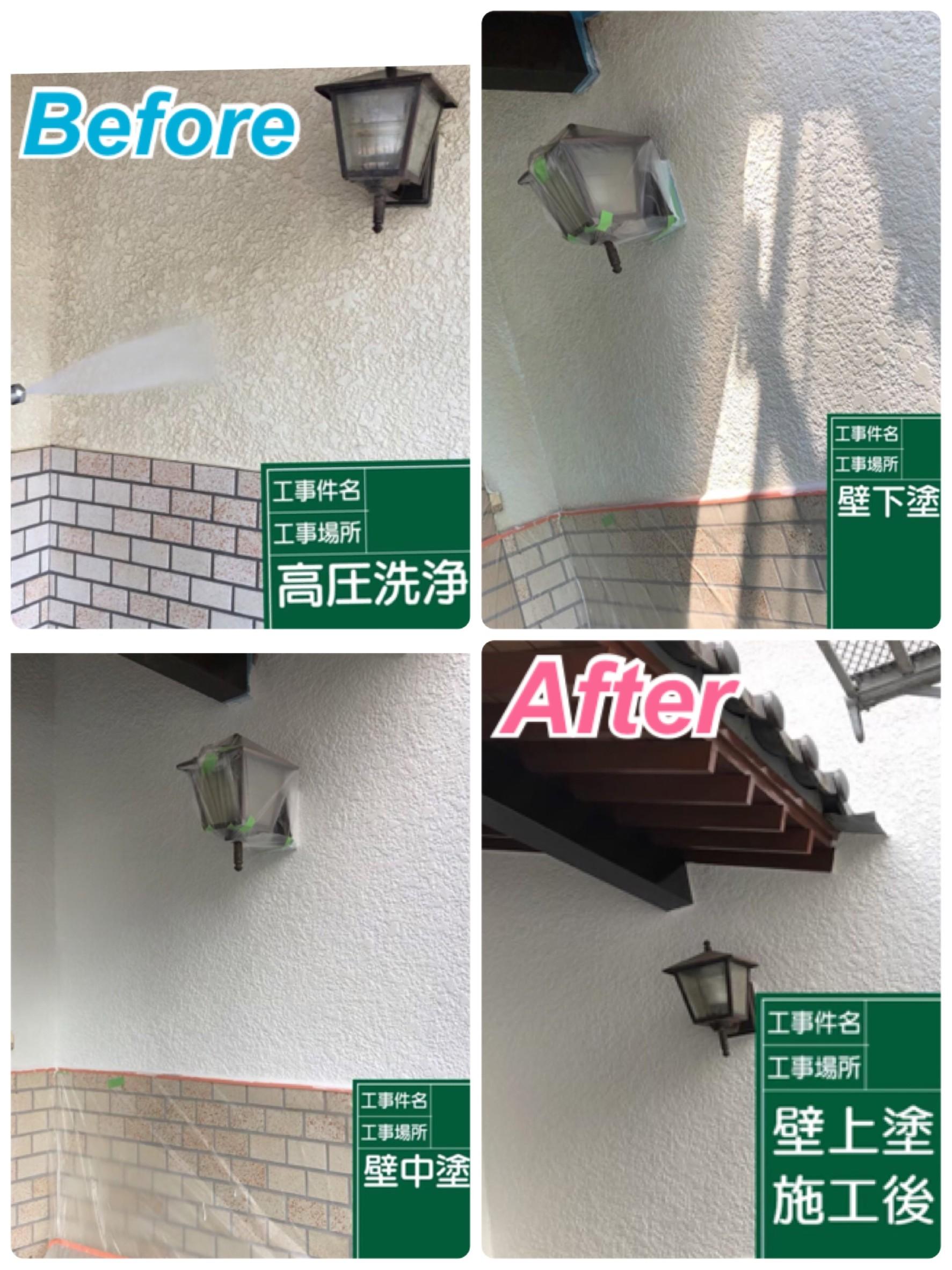 外装:外壁塗装工事✨