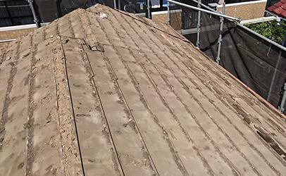 和瓦からガルテクトへの葺き替え工事