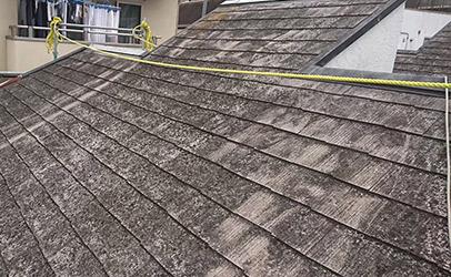 アスファルトシングル屋根へ工事